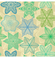 Seamless vintage green hand drawn pattern vector image vector image