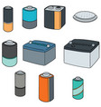 set of battery vector image
