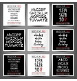 Set of handwritten English alphabets vector image