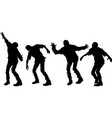 several zombie silhouettes vector image vector image