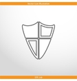 shield web flat icon vector image vector image