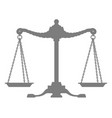 silhouette of old balance - scales vector image vector image