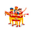 spain flag spanish people day vector image vector image
