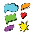 Speech bubbles colorful set vector image vector image
