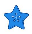 starfish line icon vector image