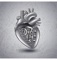 Steam punk metal heart with gears vector image vector image