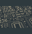 stylized mainboard vector image vector image