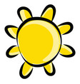 sun drawing on white background vector image vector image
