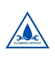 symbol of plumbing service vector image vector image