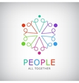teamwork social net people together icon vector image