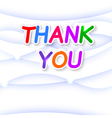 Thank plate on a blue background vector image vector image