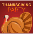 thanksgiving party concept banner cartoon style vector image vector image