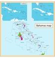 The Bahamas map vector image vector image