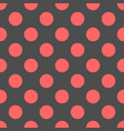 tile pattern with pink polka dots on grey vector image