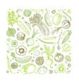 vegetable hand drawn vintage vector image vector image