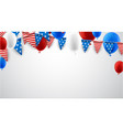 white american background with balloons vector image vector image