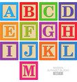 Wooden alphabet blocks vector image vector image
