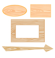 wooden signboards vector image