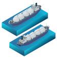 isometric gas tanker flat vector image