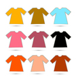 T-shirt Set in Retro Colors Isolated on White vector image