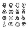 depression icon vector image