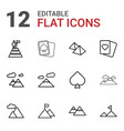 12 peak icons vector image vector image