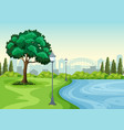a park in the city vector image vector image