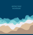 abstract blue wave and beach from top view vector image
