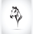 abstract horses head vector image vector image