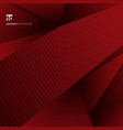 abstract red geometric shapes background and vector image vector image