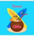 aloha hawaii carefree happy life vector image vector image