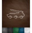 armored vehicle with a rocket icon vector image