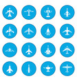 aviation set icon blue vector image vector image