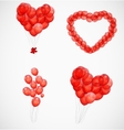 Balloon heart background vector image