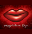 big red lips vector image