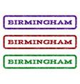 birmingham watermark stamp vector image
