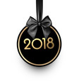 black round 2018 new year card vector image vector image