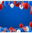 blue american background with balloons vector image vector image