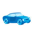 blue car icon in a flat design vehicle logo vector image