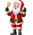 cartoon santa claus ringing bell vector image