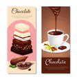 chocolate vertical banners set vector image vector image