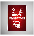 christmas card with pattern background vector image vector image