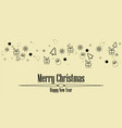 christmas greeting ornament icons element banner vector image