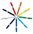 colored ball pens vector image vector image