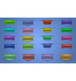 Colorful web ribbons collection vector image