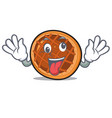 crazy baket pie mascot cartoon vector image vector image