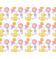 cute cartoons pattern background vector image vector image