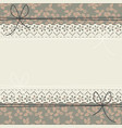 elegant lace frame with stylish flowers and leaves vector image vector image