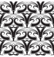ethnic style tribal black and white paisley vector image vector image