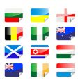flag stickers vector image vector image